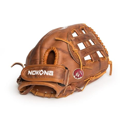 Nokona Walnut W-V1200/R Brown Leather 12-inch Closed-web Left-handed Baseball/ Softball Glove