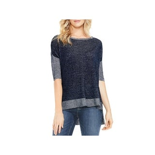 Two by Vince Camuto Womens Pullover Sweater Knit Boxy