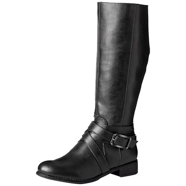 LifeStride Womens SUBTLE Round Toe Knee High Riding Boots - 10