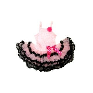 Wenchoice Pink Ruffle Black Trim Tutu Petti Dress Girl S-XL