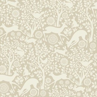 Brewster HAS01236 Anahi Neutral Forest Fauna Wallpaper