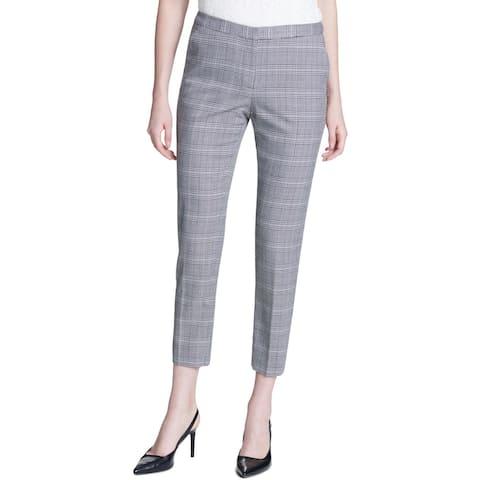 Calvin Klein Womens Ankle Pants Glen Plaid Straight Leg