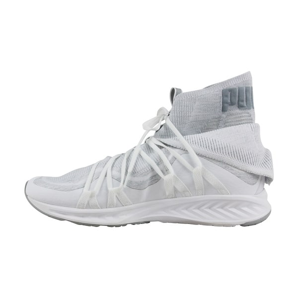 the best attitude 92b91 3b5a2 Puma Ignite Evoknit Fold Mens White Textile Athletic Lace Up Training Shoes