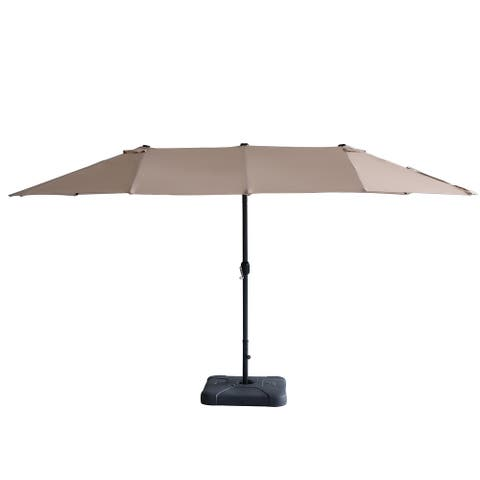 15ft Patio Umbrella Double-sided Outdoor Garden Market Sun Shade Crank