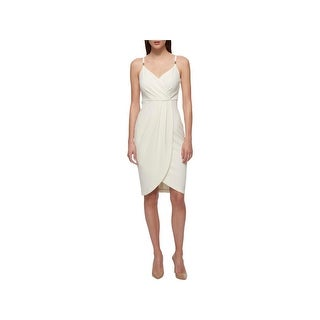 Guess Womens Slip Dress Textured Faux Wrap