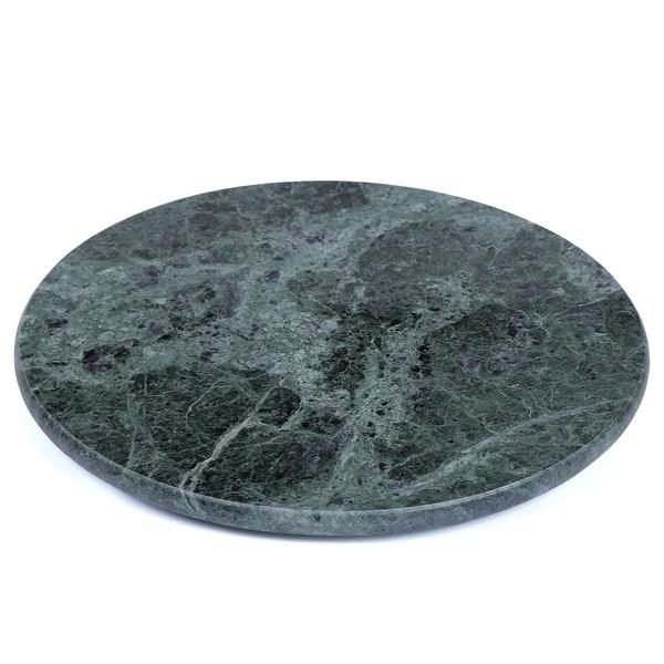 Creative Home Green Marble Round Trivet, Cheese Board