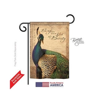 Birds Peacock 2-Sided Impression Garden Flag - 13 x 18.5 in. Shop Superior Vantage Owl