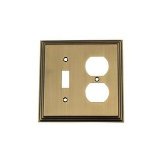 Nostalgic Warehouse DEC SWPLT TD Deco Single Switch And Single Duplex Wall  Plate