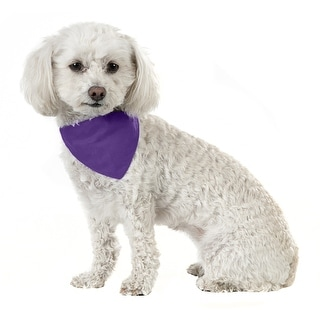 Link to Mechaly Solid Cotton Dog Bandana Triangle Bibs - Small and Medium - One Size Similar Items in Hair Accessories