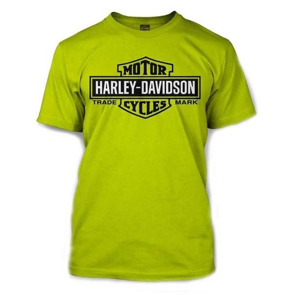 1b644ca4 Shop Harley-Davidson Men's Elongated Bar & Shield Safety Green T-Shirt.  30291737 - Free Shipping On Orders Over $45 - Overstock - 17762118