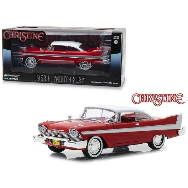 shop 1958 plymouth fury red christine 1983 movie 1 24 diecast model car by greenlight overstock 25486731 1958 plymouth fury red christine 1983 movie 1 24 diecast model car by greenlight