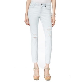 Two By Vince Camuto NEW Blue Womens Size 0 Ripped Skinny-Fit Jeans