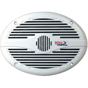 Boss Audio 15556W BOSS Audio MR690 350-watt 2 way Marine 6 Inch x 9 Inch Coaxial Speaker