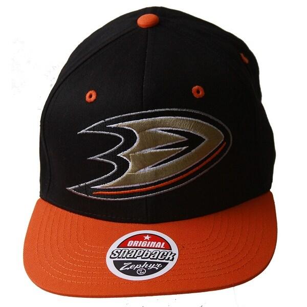 1bf5e9201eff2 ... purchase nhl anaheim might ducks zephyr black orange adjustable hat gt  sweat wristband afb5e 03e0b