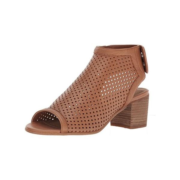Steven By Steve Madden Womens Sambar Block Heels Perforated Open Toe