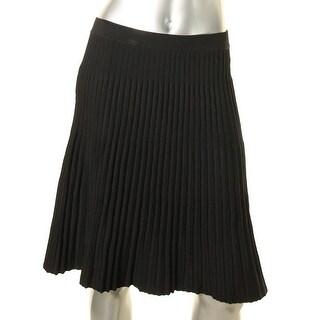 Anne Klein Womens A-Line Skirt Pull On Knee-Length