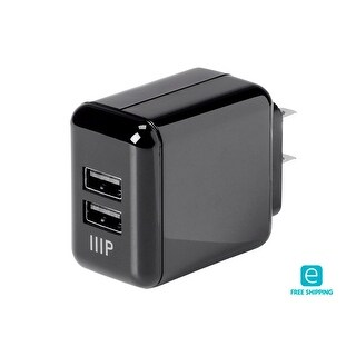 Essentials 2-Port USB Wall Charger 4.2A for Apple and Android