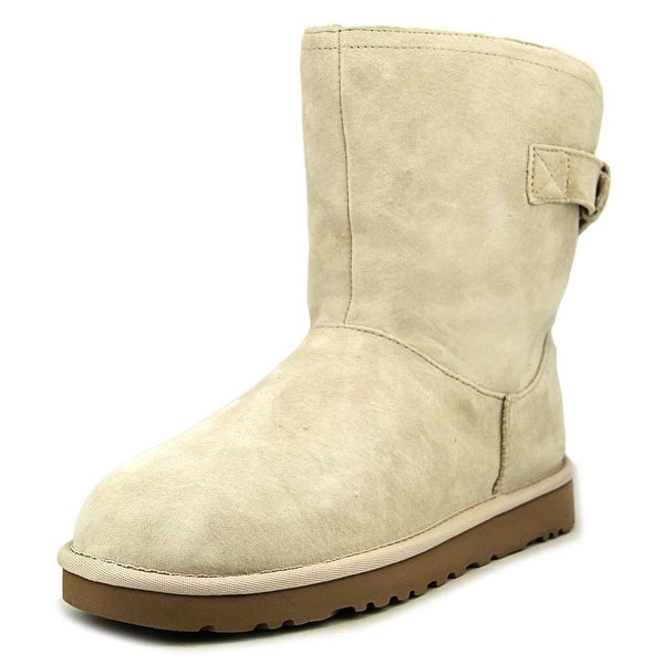 Ugg Australia Remora Women  Round Toe Leather White Winter Boot