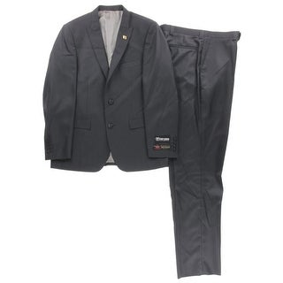 Stacy Adams Mens Two-Button Suit Solid 2PC - 40r