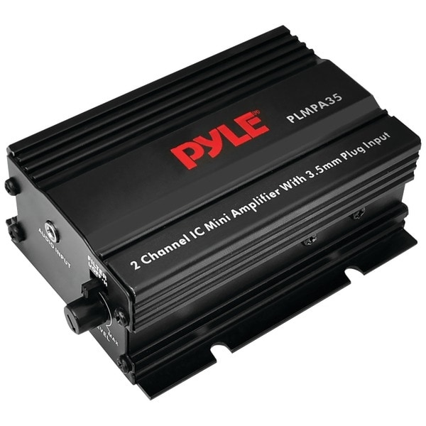PYLE PRO PLMPA35 300-Watt 2-Channel Mini Class AB Amp with 3.5mm Input
