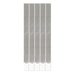 """Club Pack of 600 Solid Colored Fossil Gray Tyvek Party Wristbands 10"""""""