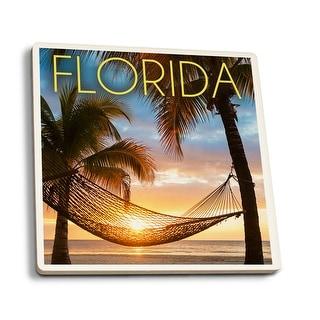 FL - Hammock & Sunset - LP Photography (Set of 4 Ceramic Coasters)