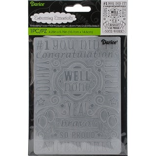 """Embossing Folder 4.25""""X5.75""""-Congrats Collage"""