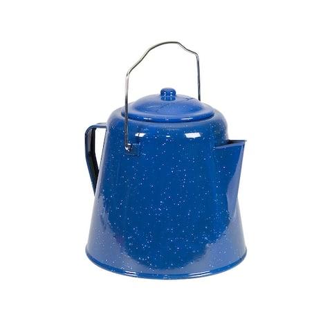 "Stansport Enamel Percolator Coffee Pot 20 Cup - 9.25"" L x 9.25"" W x 9.5"" H"
