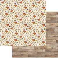 "Fall Breeze Double-Sided Cardstock 12""X12""-Autumn Leaves"