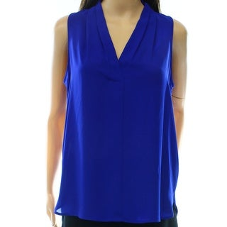 Vince Camuto NEW Blue Women's Size Small S High-Low Tank V-Neck Blouse