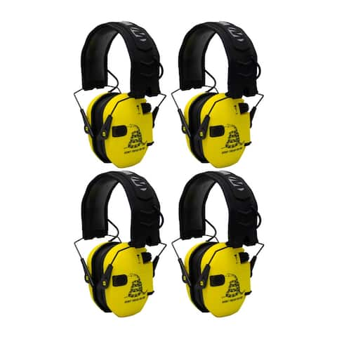 Walker's Razor Shooting Ear Protectors (Yellow, 4-Pack)