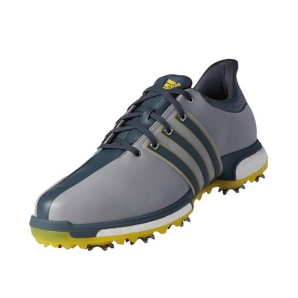 Shop Adidas Men S Tour 360 Boost Light Onix Bold Onix Vivid Yellow Golf Shoes Q44845 Q44827 Overstock 18696308
