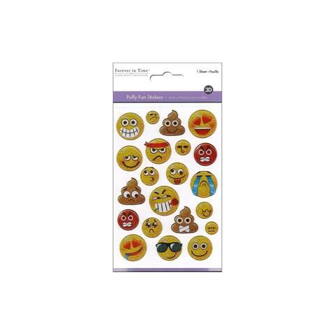 Multicraft Sticker Puffy Fun Emoji Glitter Icons