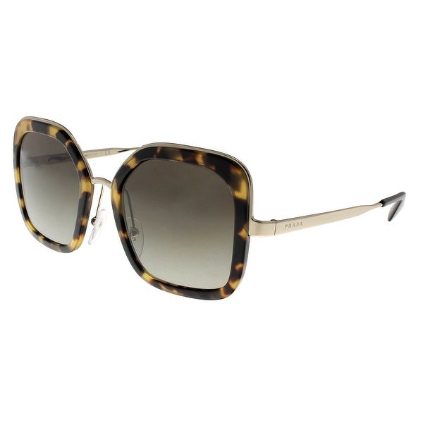 9564d8b5c17 Prada PR57US 7S05O2 CATWALK Medium Havana Square Sunglasses - 54-22-140