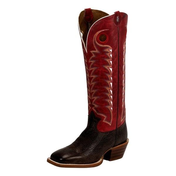 Tony Lama Western Boots Mens Rosston Cowboy Stitch Leather
