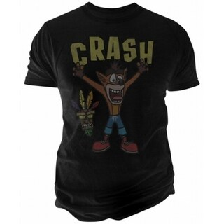 Fruit of the Loom NEW Black Mens Size Medium M Crash Graphic Tee T-Shirt
