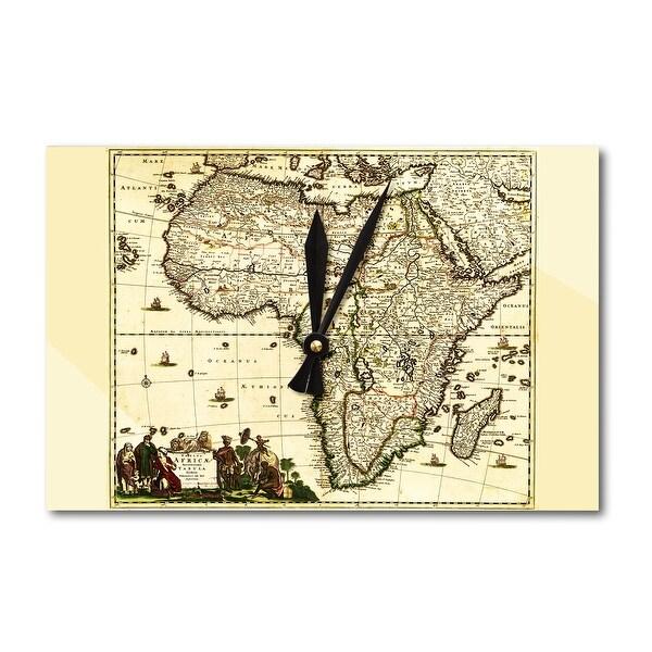 Africa - (1688) - Panoramic Map (Acrylic Wall Clock) - acrylic wall clock