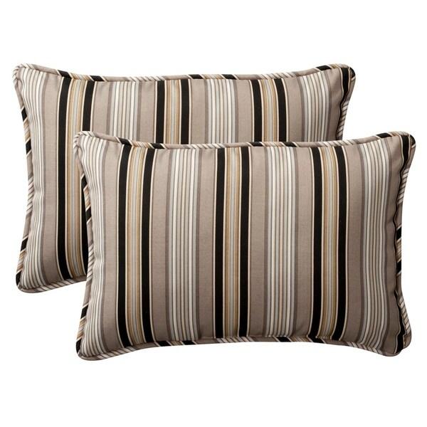 Shop Set Of 40 Outdoor Rectangular Throw Pillows 4040 Black Tan Custom Black And Tan Decorative Pillows
