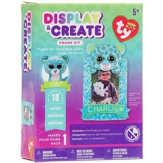 Darice 30018923 Leona Leop-Display & Creat Frame Cross Stitch Kits