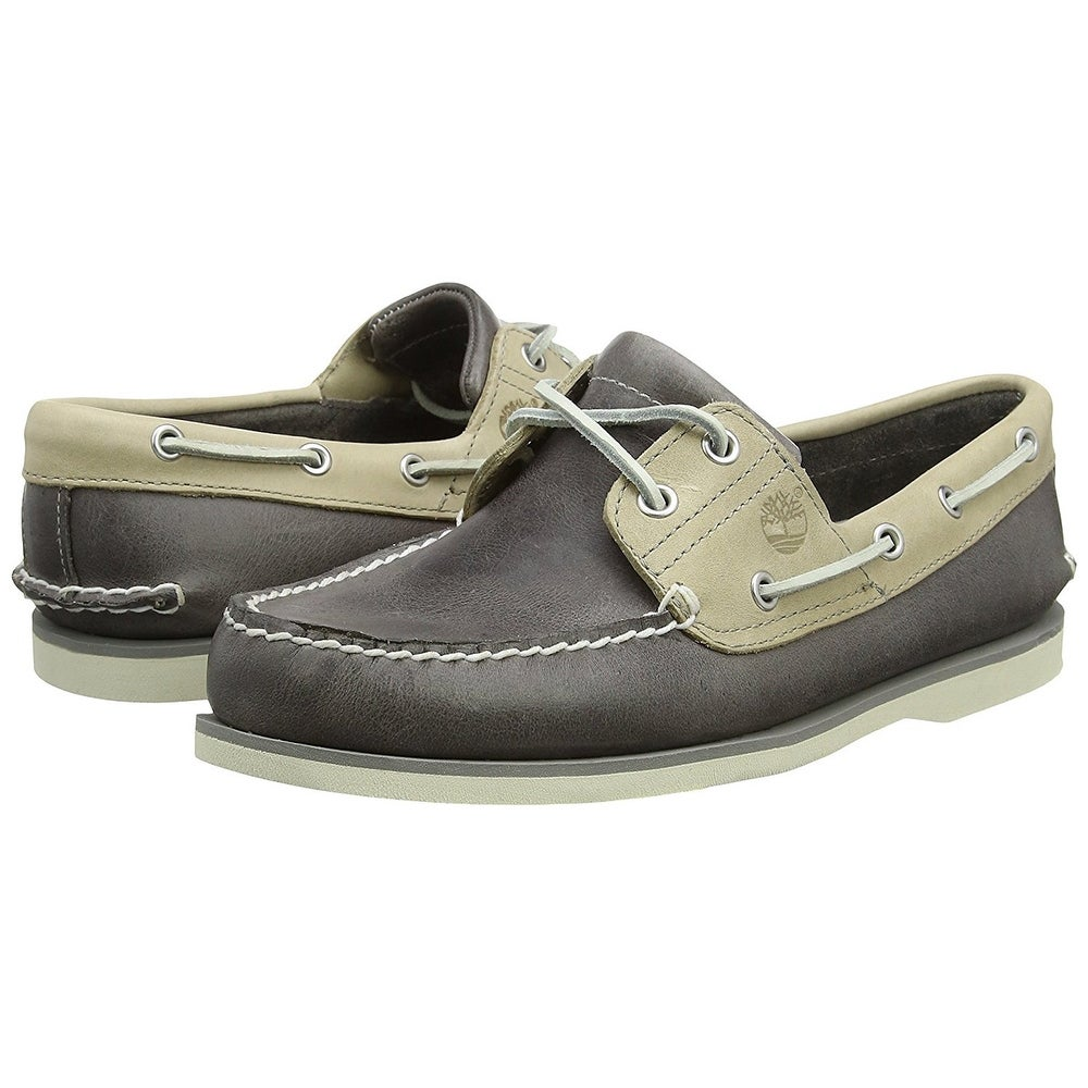 Timberland Mens Classic 2 eye boat shoe Closed Toe Penny Loafer