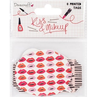 Dovecraft Kiss & Make Up Cardstock Tags 8/Pkg-