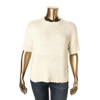 Lauren Ralph Lauren Womens Crewneck Sweater Hi-Low Knit