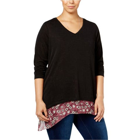 Style&Co. Womens Layered Pullover Blouse