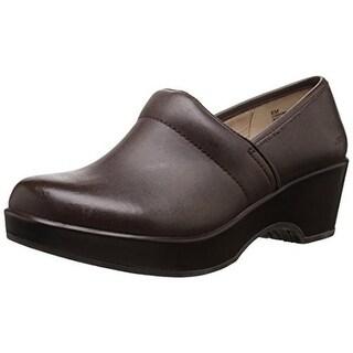 JBU by Jambu Womens Cordoba Leather Casual Clogs - 8.5 medium (b,m)