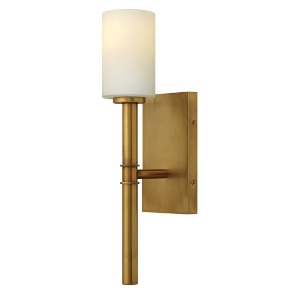 Hinkley Lighting 3580 1-Light Indoor Wallchiere Wall Sconce in Vintage Brass from the Margeaux Collection - Vintage Brass - n/a