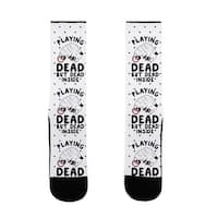 LookHUMAN Playing Dead but Dead Inside US Size 7-13 Socks