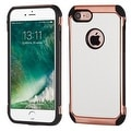 Insten White/ Black Leather TPU Dual Layer Hybrid Case Cover For Apple iPhone 7 - Thumbnail 0