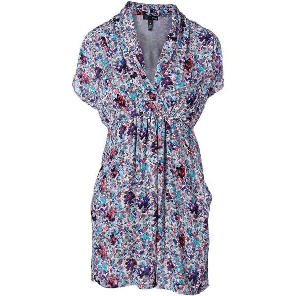 Aqua Womens Casual Dress Printed Open Shoulder