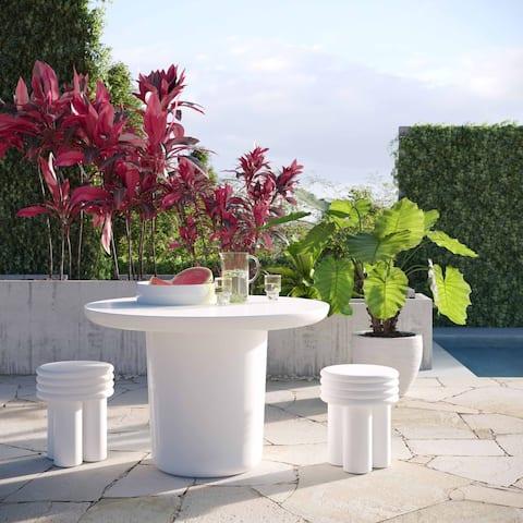 Delta Ivory Concrete Side Table