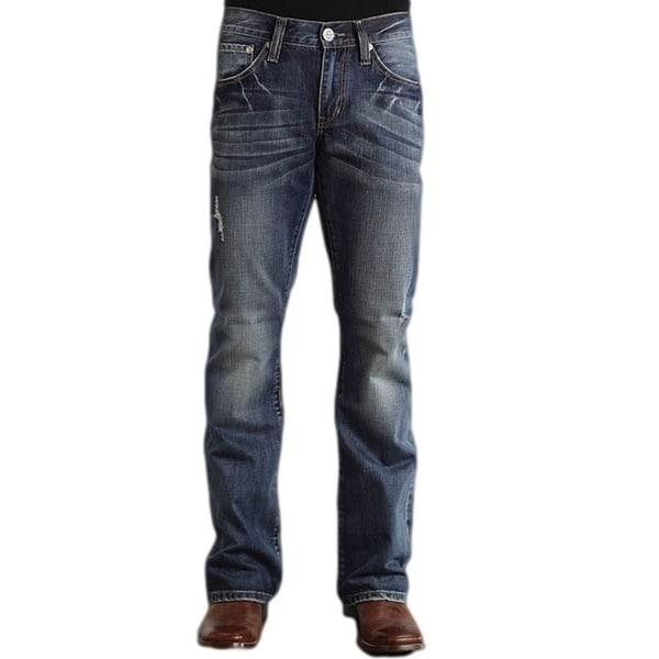 Stetson Western Denim Jeans Mens Rocks Fit Dark